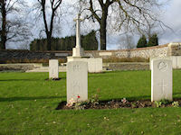 The Grave of W Short VC, Contalmaison Chateau CWGC, The Somme